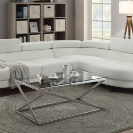 Modern design sectional in faux leather
