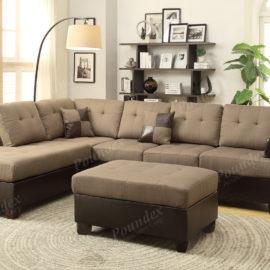 Sofa Chaise Ottoman tan