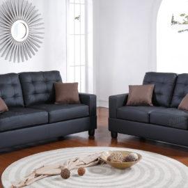 Black sofa Loveseat set