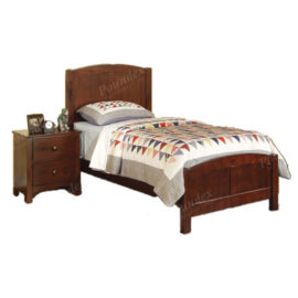 Brown wood bed frame twin