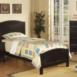 Black wood bed frame twin