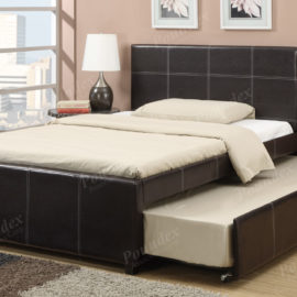 Faux Leather trundle bed frame