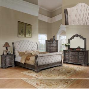 SHEFFIELD GREY SLEIG SLEIGH BED