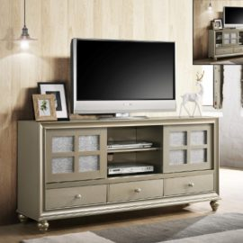 "67"" grey silver TV stand"