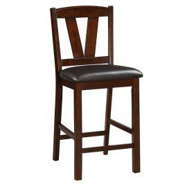 Dark Walnut Wood Counter Height Dining Chair