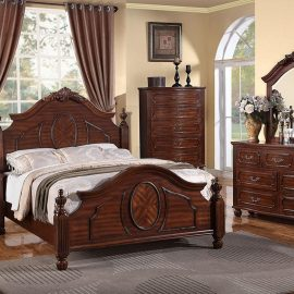 Traditional brown bedroom set