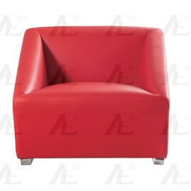 Modern Leather Chair Red