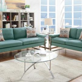 Teal sofa loveseat