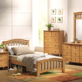 San Marino maple wood bed collection