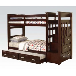 espresso twin bunk bed