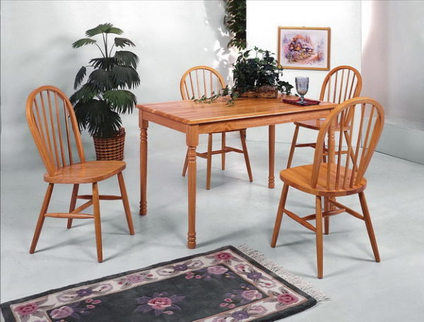 classic oak dining set