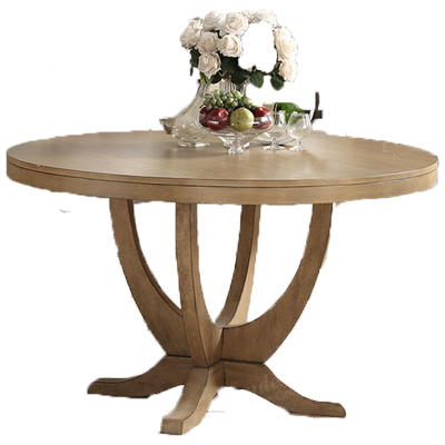 Light Natural Wood Round Dining Table Paradise Furniture Store