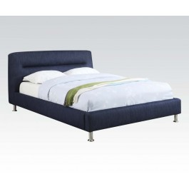 upholstered blue bed frame