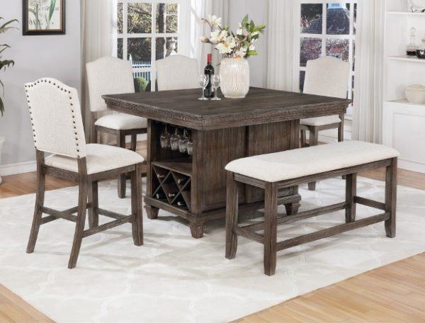 counter height Grey dining table
