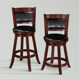 Black and Cherry counter stool