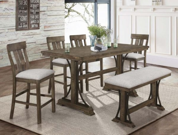 Quincy Grey Counter Height Table Set