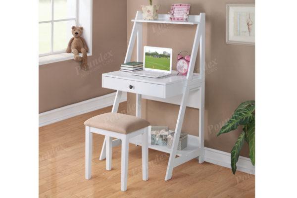 white writing desk