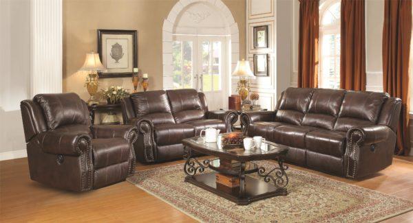 Sir Rawlinson Traditional Reclining Sofa Set - Paradise Furniture Store