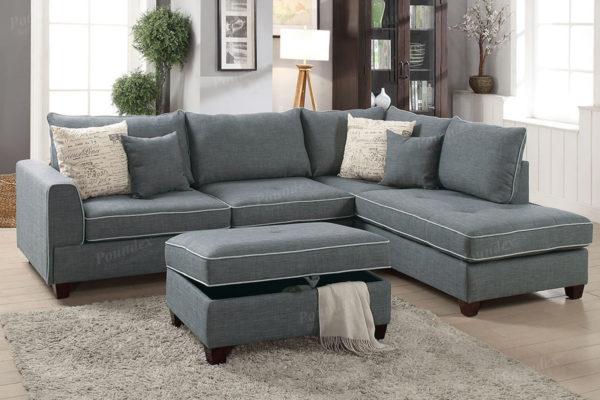 Prime 3 Pcs Sectional Sofa Ottoman Storage In 3 Colors Uwap Interior Chair Design Uwaporg