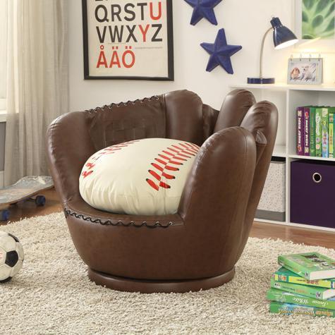 Pleasant Baseball Glove Chair Ottoman Inzonedesignstudio Interior Chair Design Inzonedesignstudiocom