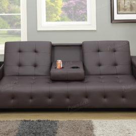 sofa sleeper click-clack brown