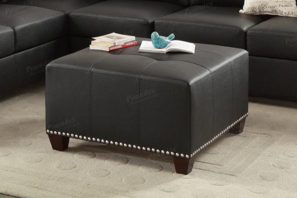square leather ottoman