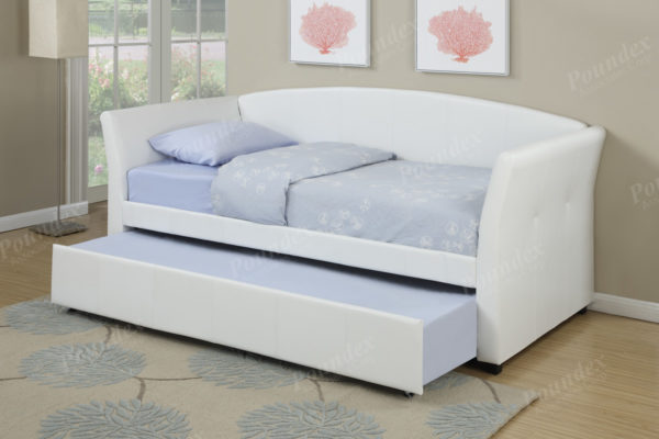 espresso white trundle daybed
