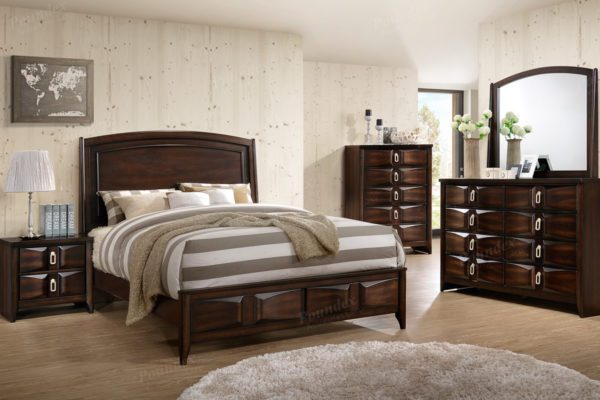 Rustic wood bed