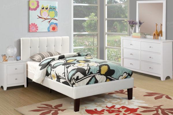 White kids bed frame