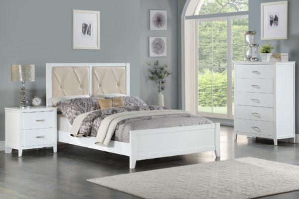 tufted headboard bed frame