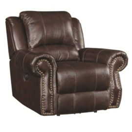 Brown classic recliner