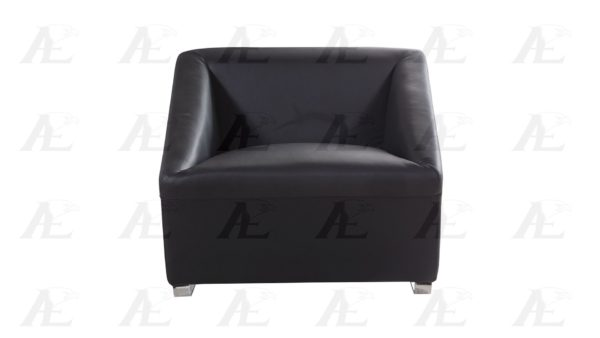 Modern Leather Chair Black