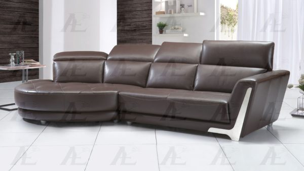 Dark Brown Italian Leather Sectional