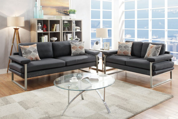 Ash black sofa loveseat