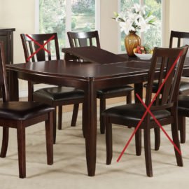 brown dining set butterfly leaf