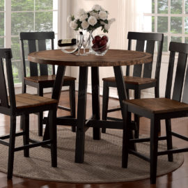 distressed counter height dining table