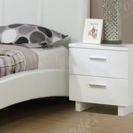 White Nightstand dresser mirror Chest