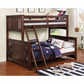 twin Full bunkbed walnut