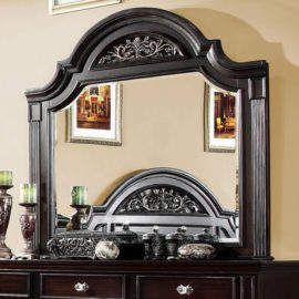 walnut traditional Mirror