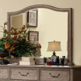 natural wood rustic bed mirror