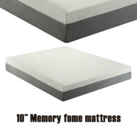 "10"" memory foam mattress"