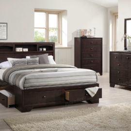 natural wood front side drawer trundle bed