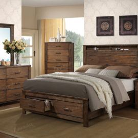 natural wood front drawer trundle bed