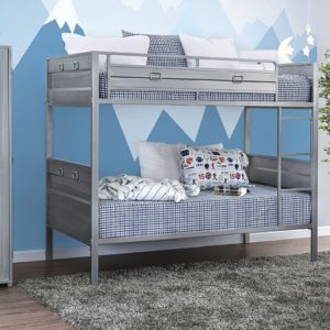 twin on twin metal bunk bed