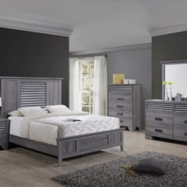 grey wood bed frame