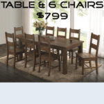 7pc Dining Table Set