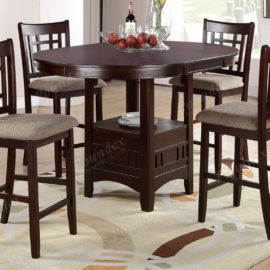 5pc dining set with upholstered chairs