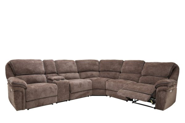 Brown power sectional 6pc