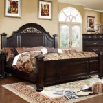 walnut traditional bed frame