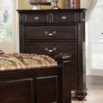 walnut traditional bed chest